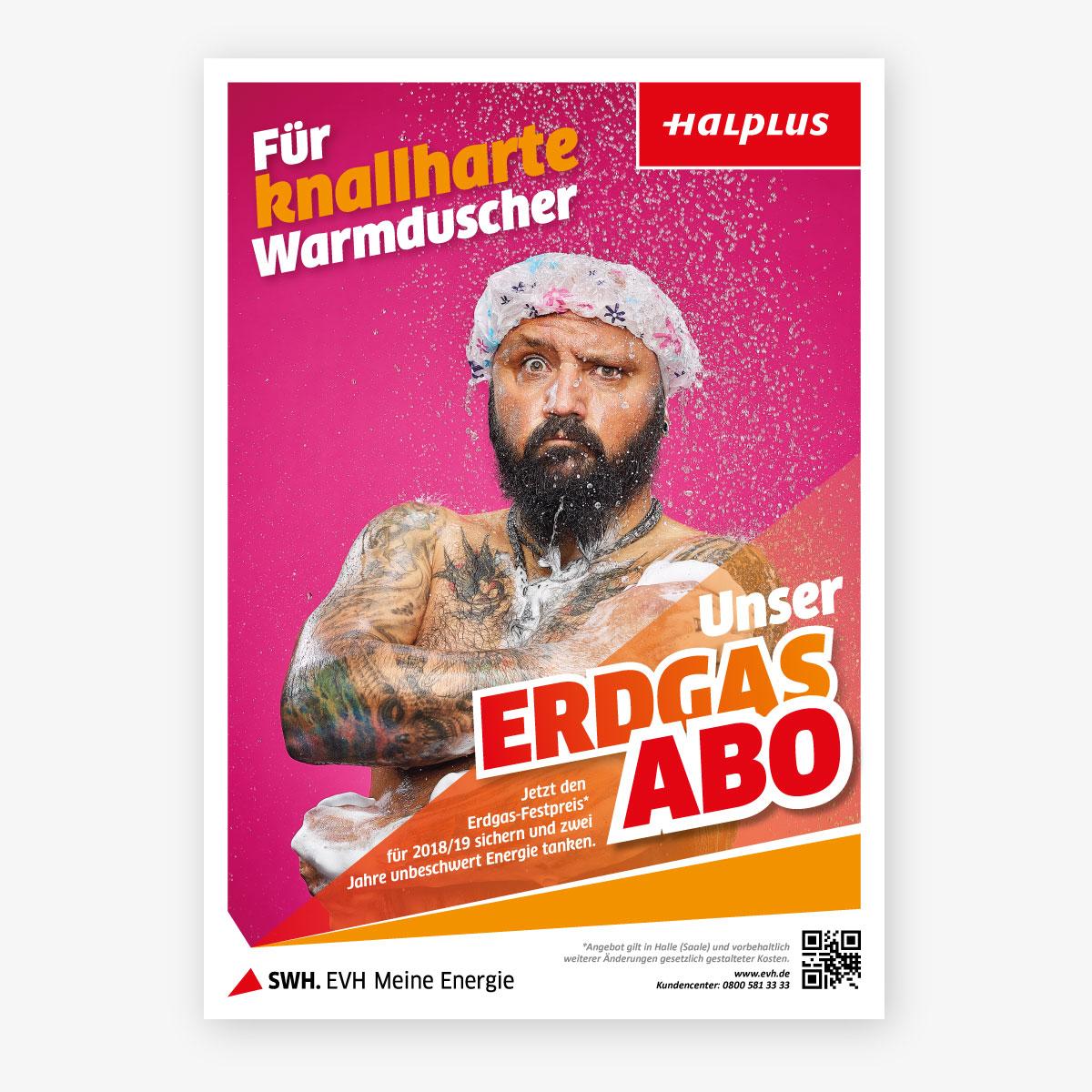 EVH Winterkampagne 2017 Plakat knallharte Warmduscher