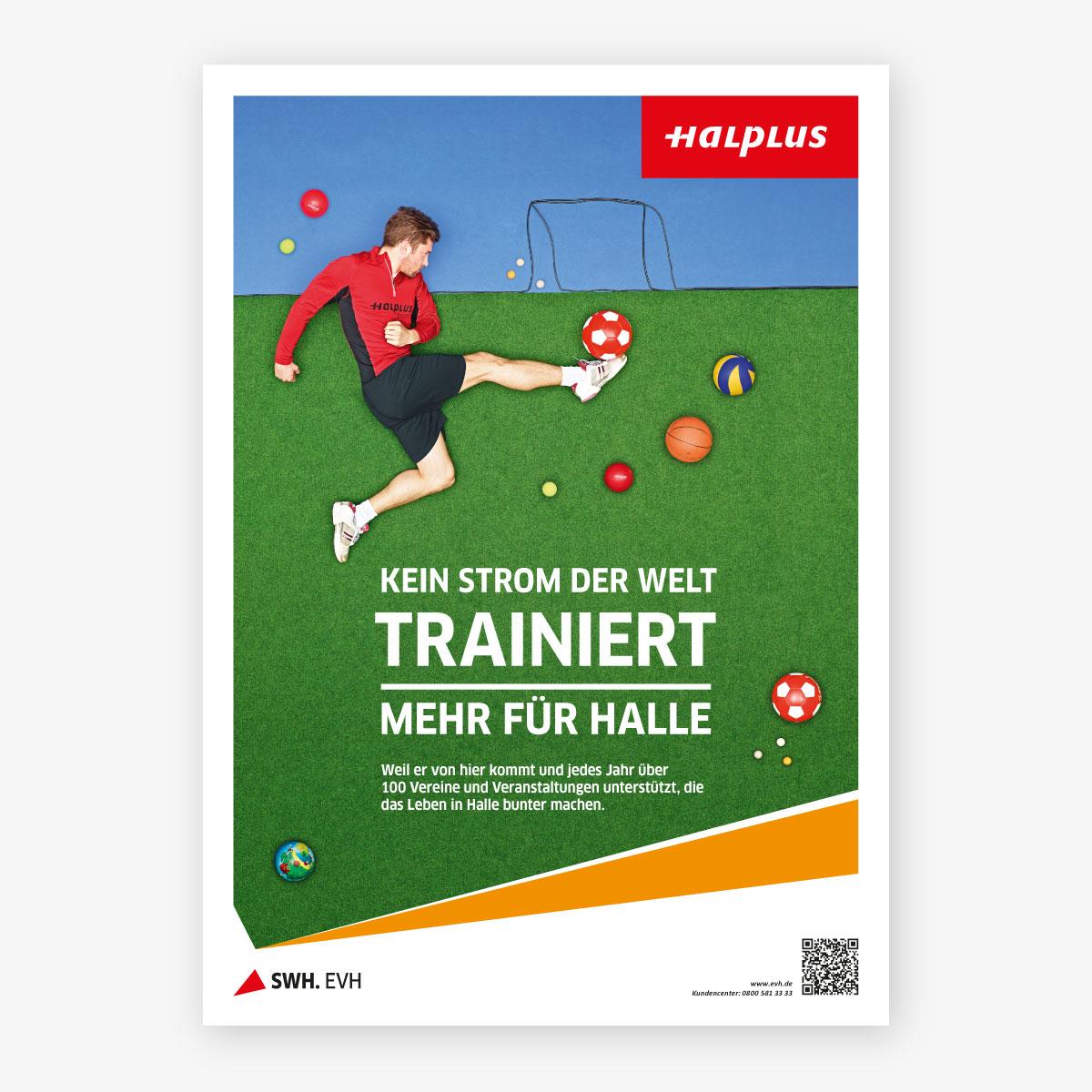Plakat EVH Frühjahrskampagne 2013 Plakat Sport