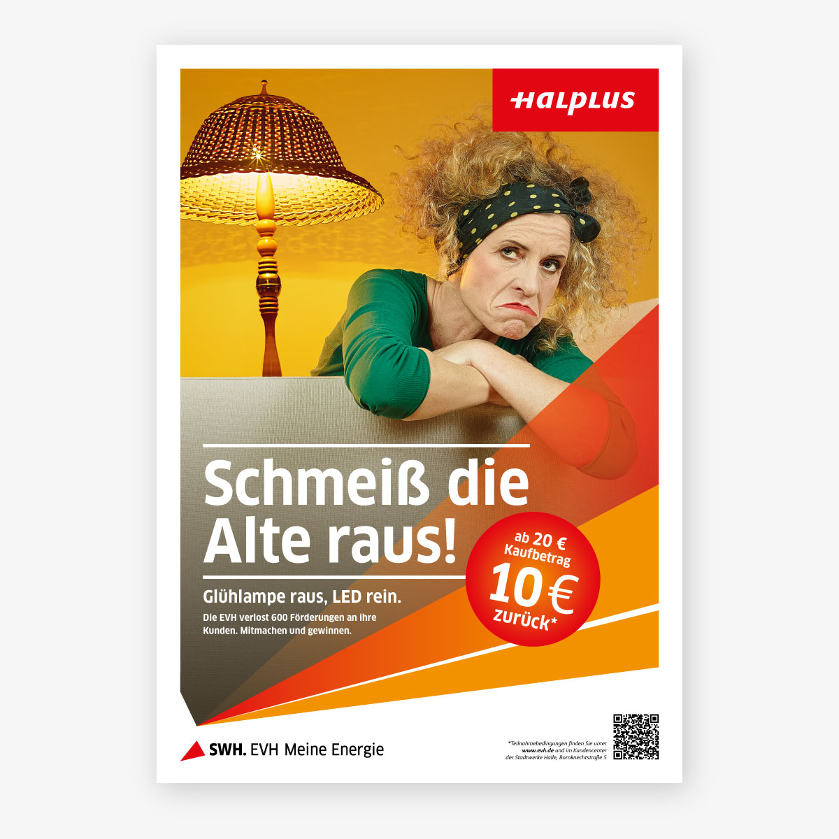EVH Frühjahrskampagne 2014 Plakat Frau mit Lampe