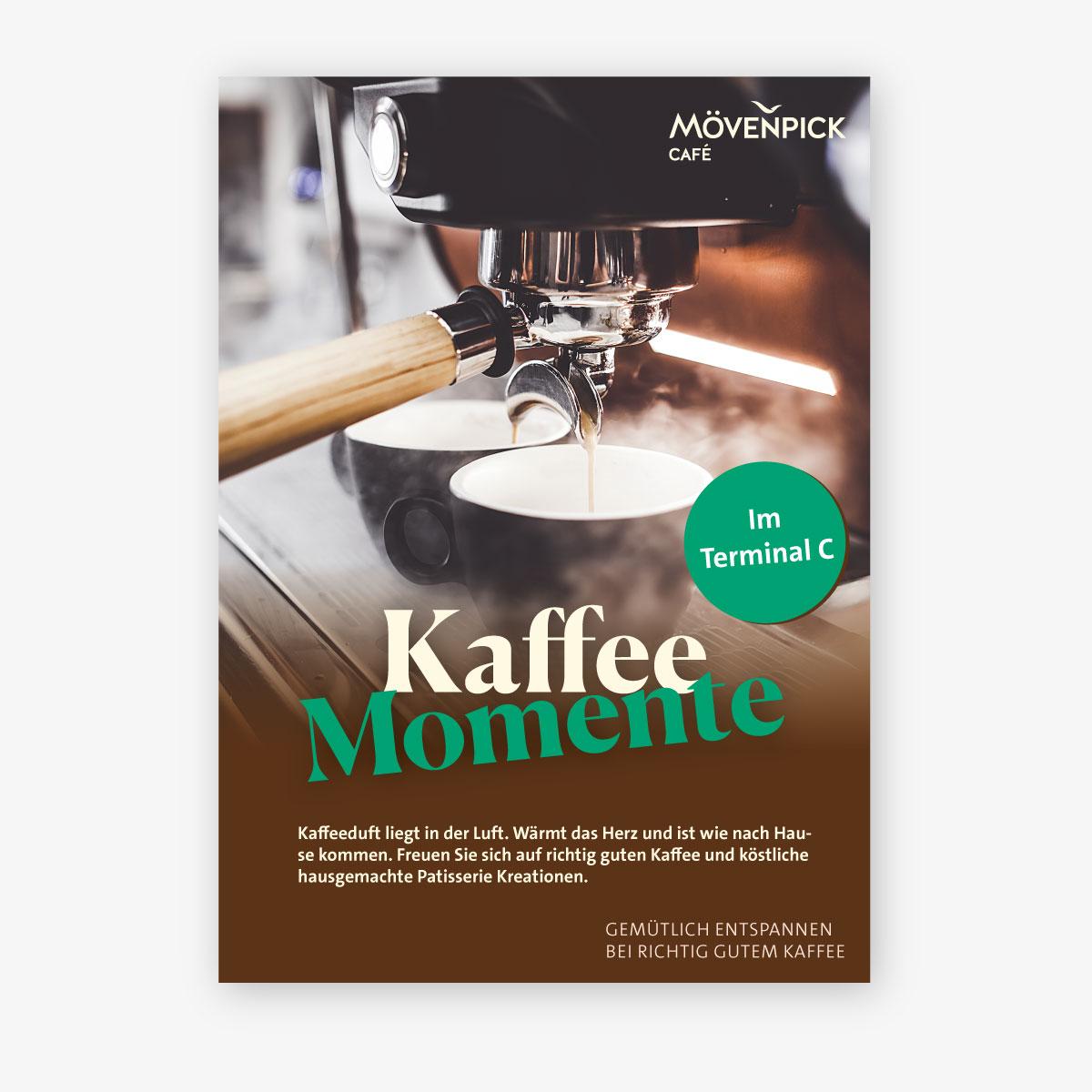 Plakat Kaffee Momente von Agentur Kappa