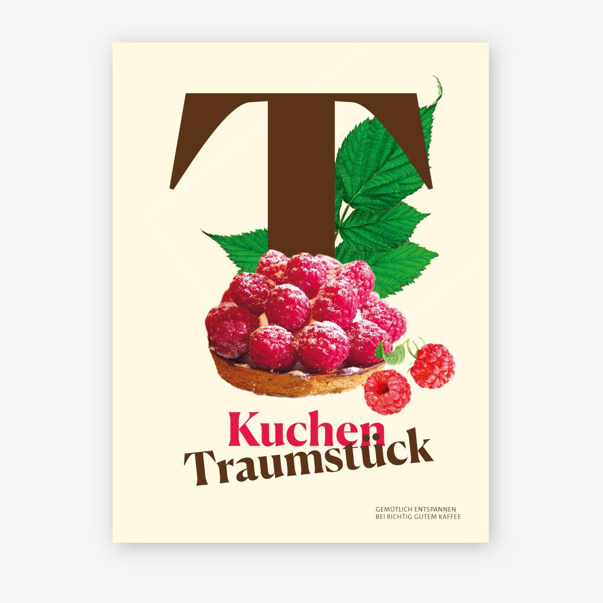 Illustration Wandbild Rebranding der Werbemittel von Mövenpick Café