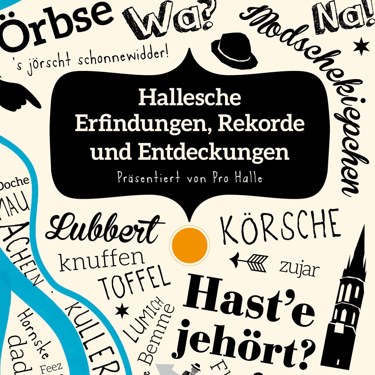 """prohalle: Illustrierte Buchreihe """"Hallesche Erfindungen, Rekorde und Entdeckungen"""": Titel"""