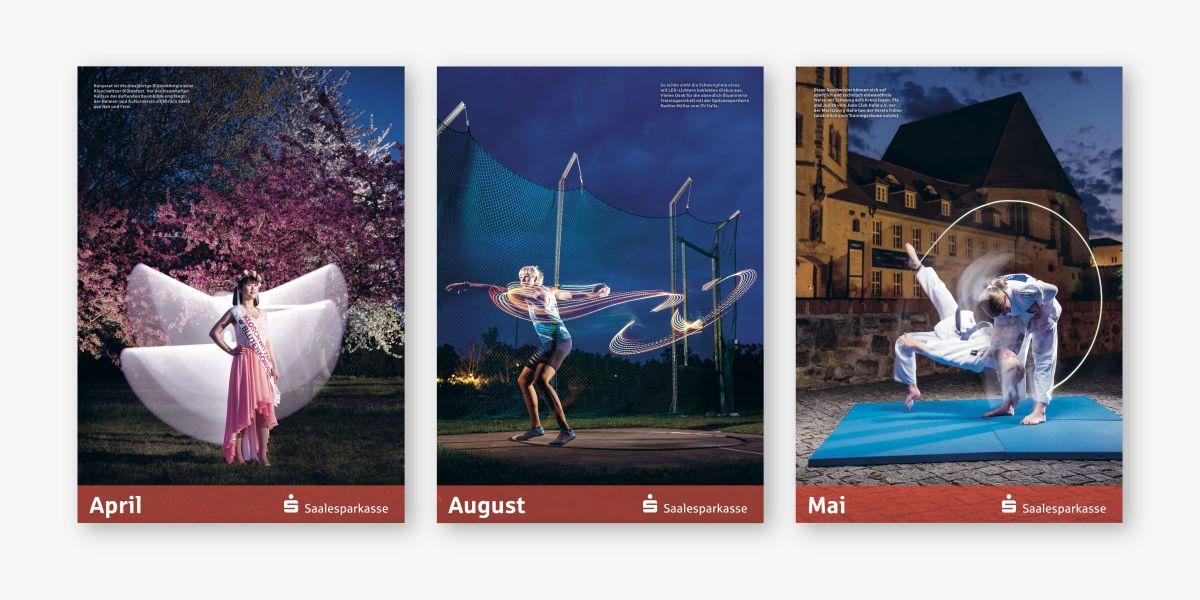 Motive aus dem Saalesparkassen Kalender 2021