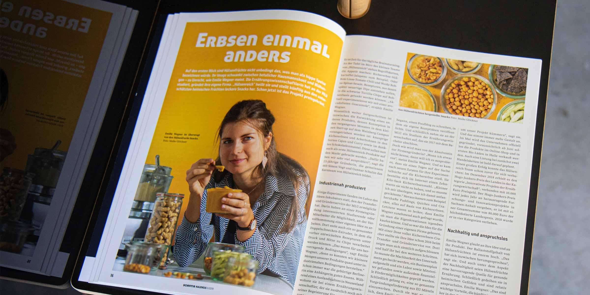 Innenseite, Editorial Design, Scientia Halensis