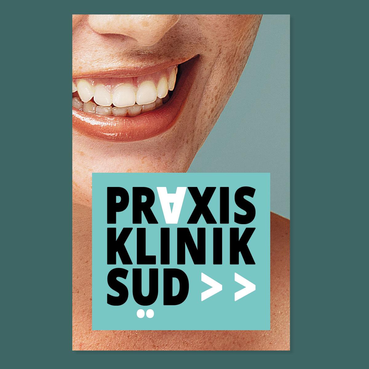 Praxis Klinik Süd: Mund-, Kiefer, Gesichts- und Oralchirurgie: Visitenkarte: Vorderseite