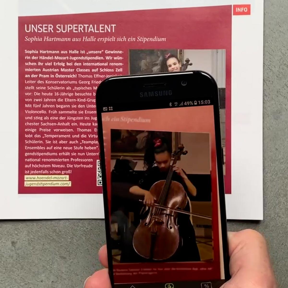 Stadtwerke Halle: Kundenmagazin mit Augmented-Reality-Inhalten