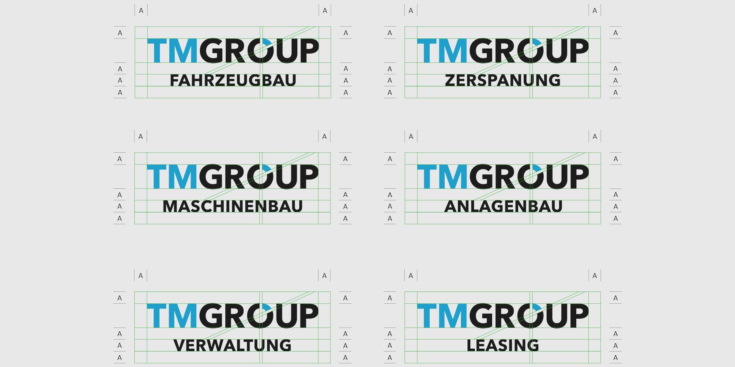 TMGROUP_Logos der einzelner Geschäftsfelder