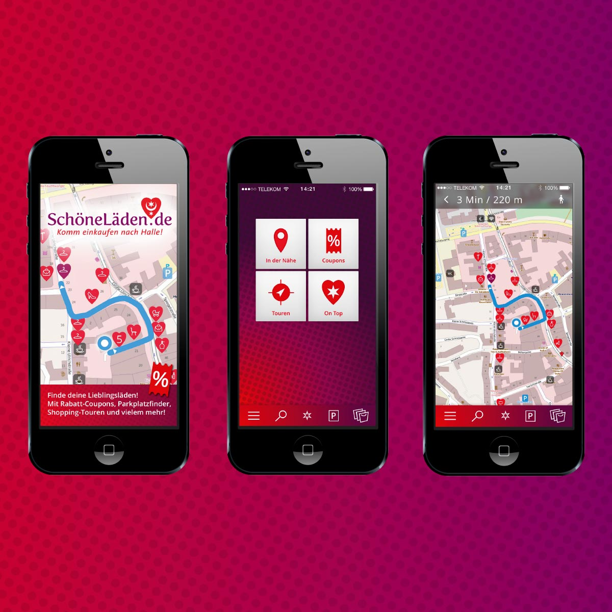 schoenelaeden.de: Smartphone-App mit Shopping-Touren, Rabatt-Coupons...