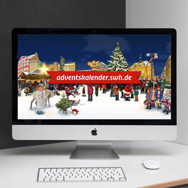 Interaktiver Online 360°-Adventskalender