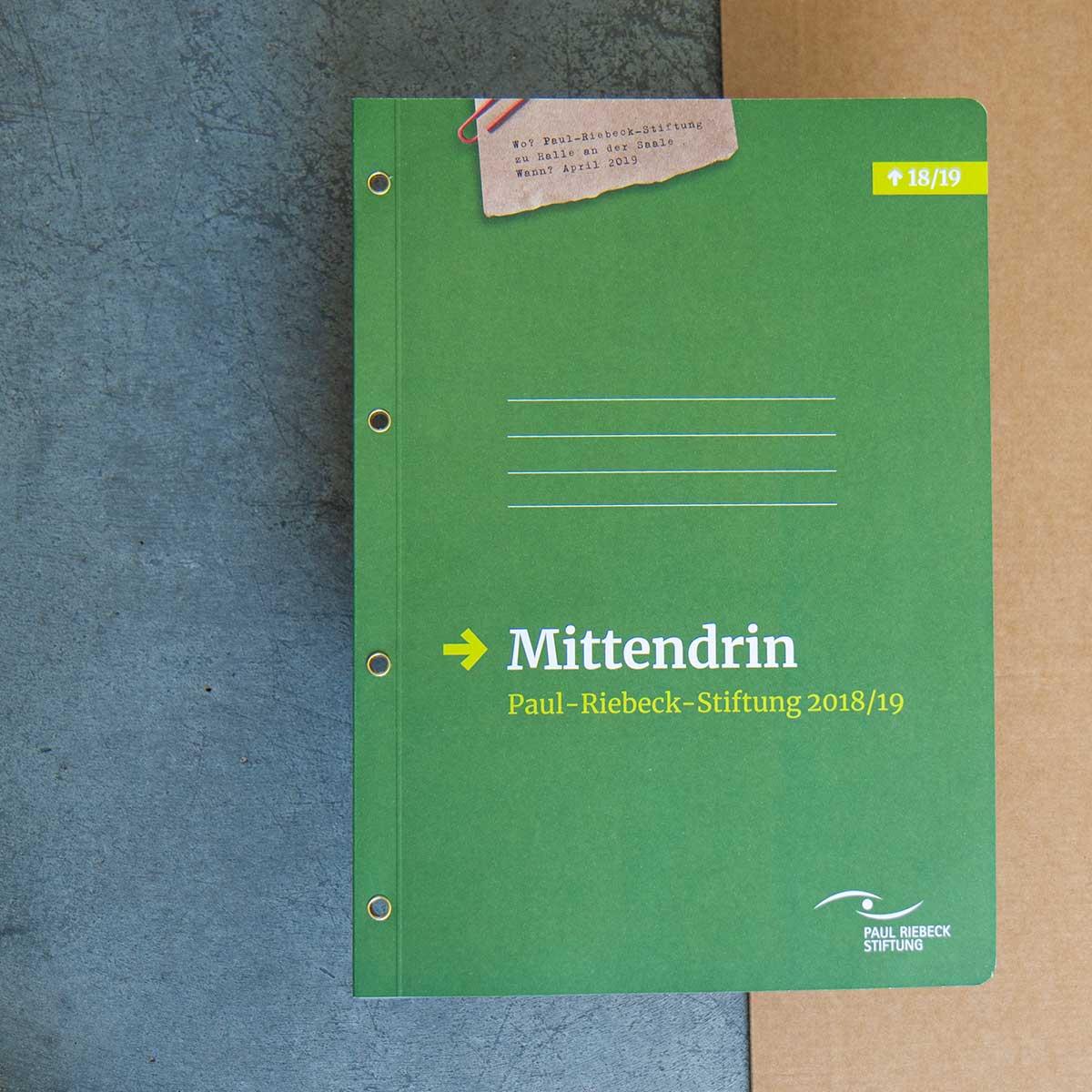 """Perspektivbericht: """"Mittendrin – Paul-Riebeck-Stiftung 2018/19"""""""