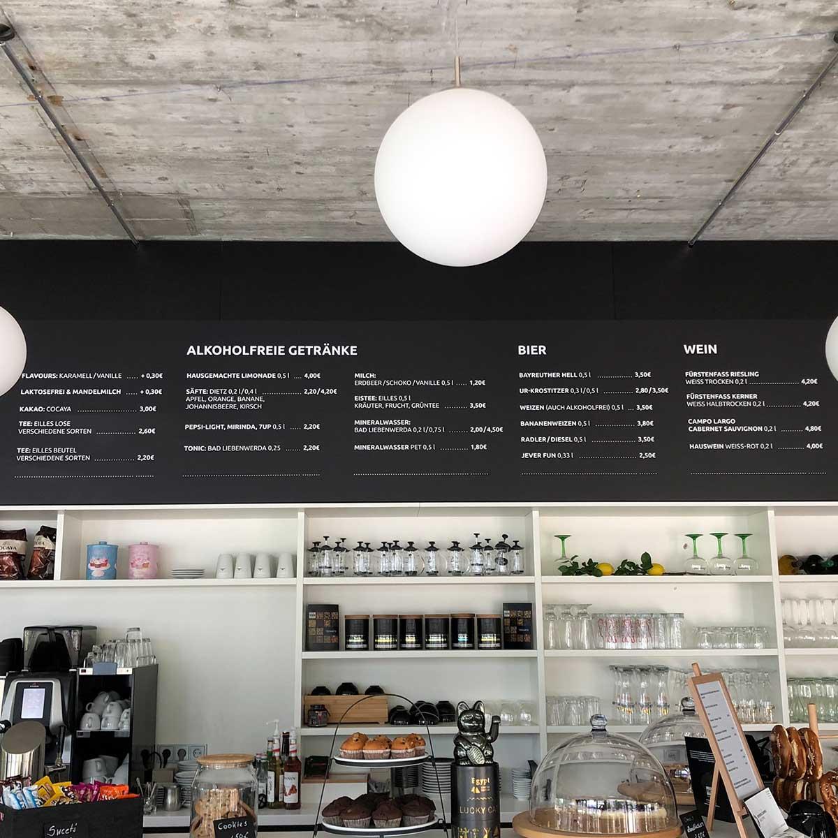 Die Bar des Hub Coffees am Weinberg Campus