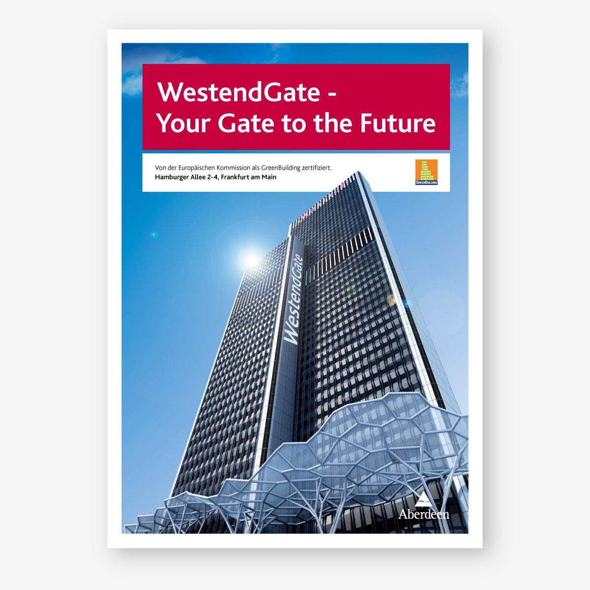 Abeerdeen: Vermarktungsbroschüre für Immobilie WestendGate – Titelseite