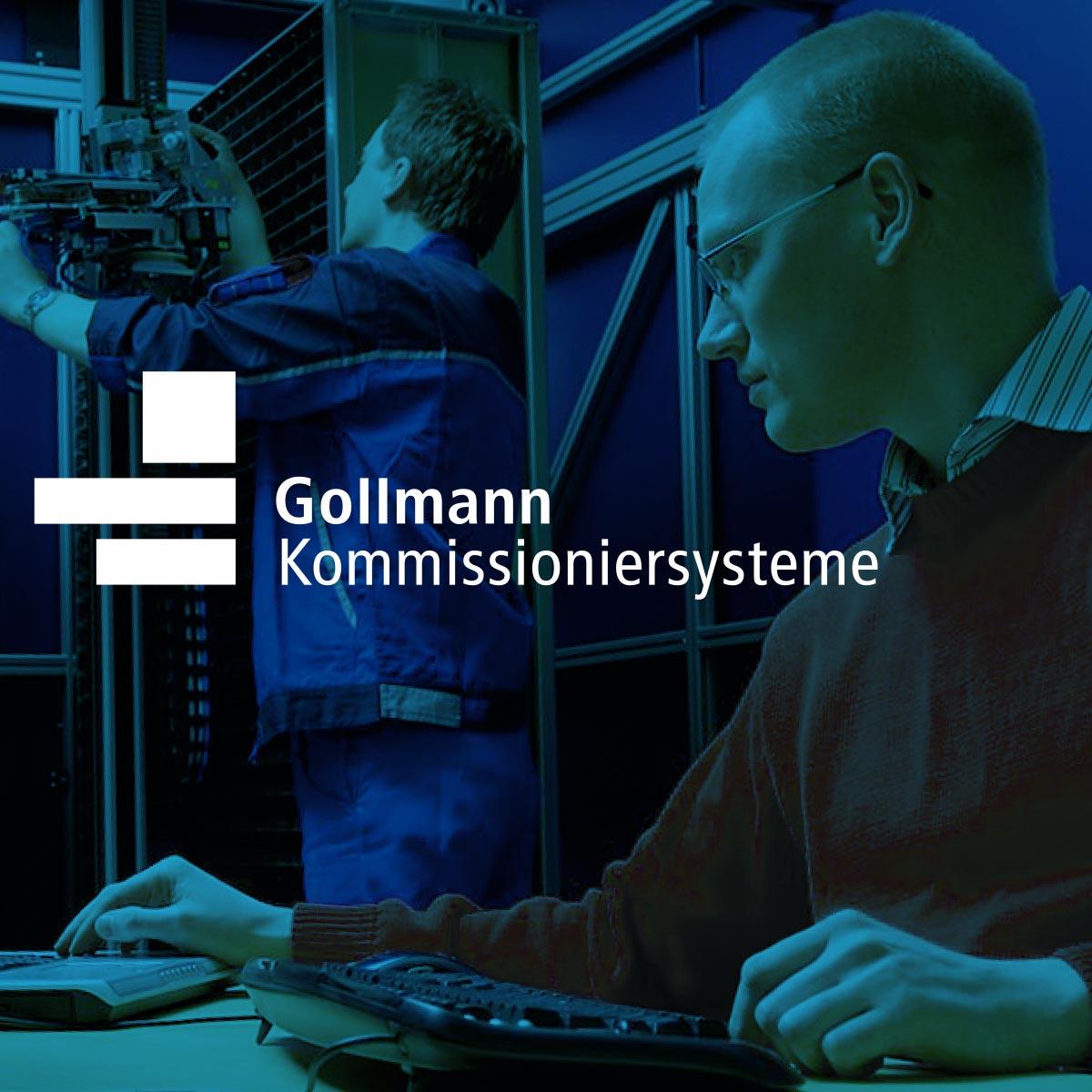 Gollmann Kommissioniersystem: Logo und Bildwelt