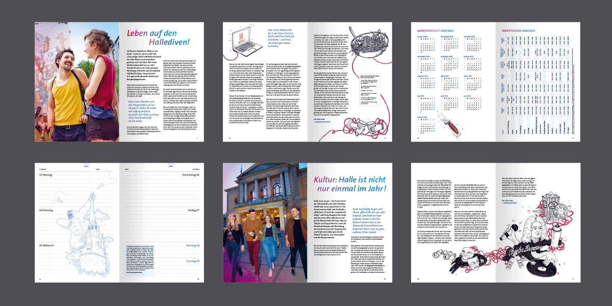 Stadtmarketing Halle (Saale): Wochenplaner Pro für Studieninteressierte – Innenseiten
