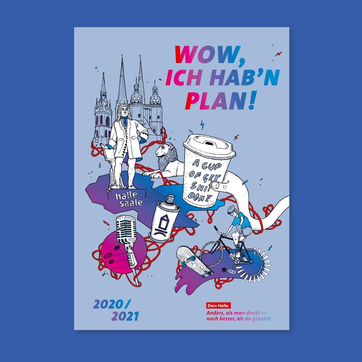 Stadtmarketing Halle (Saale): Wochenplaner Pro für Studieninteressierte – Titel 2020/2021